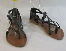 Summer Black Womens Shoes Roman Gladiator Sandals Size 8