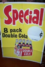 "DOUBLE COLA 53 x 40"" unused Folded advertising Poster"