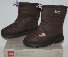 NIB Girl's The North Face Nuptse II Brown Boots Size 5