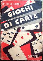 1943 MANUALE DEI GIOCHI DI CARTE TRESETTE SCOPA TAROCCHI RAMINO SBARAZZINA...