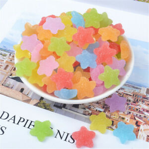 Lot of 20 Resin Jelly Drops Design Cabochons Star Shaped Candy Sweets Crafts