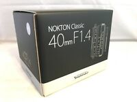 New Voigtlander NOKTON 40mm f1.4 MC(Multi Coated) Lens - VM Mount - COSINA Japan