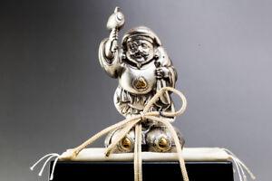 Japanese DAIKOKU Seven Lucky Gods Metal Statue W/Case #21687