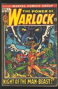 The Power of Warlock #1 Marvel 1972 VG Premiere Issue