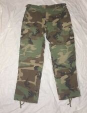BDU Pants Trousers Medium Short  Ripstop Summer Woodland USGI Army