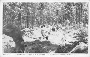 H41/ Camp Gordon Georgia Postcard c1940s War Stamps Diggin In War Instruction