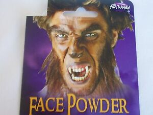Halloween Brown Face Pressed Powder Shadowing Makeup Kit Costume Face Wolf