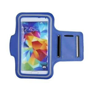 Universal Sports Running Arm Band Cell Phone Case Holster- Blue - Free Shipping!