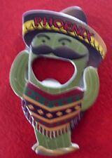 Vintage Collectible Metal 3½'' Fridge Magnet & Bottle Opener ! Cactus