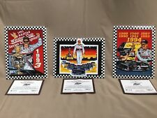 DALE EARNHARDT SR - SAM BASS COLLECTOR PLATE SET LIMITED EDITION w/Certificates