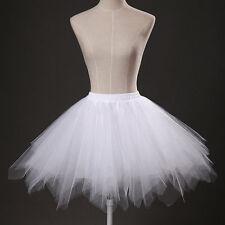 New Short Wedding Tulle Petticoat Bridal Underskirt Women Crinoline Skirt TUTU
