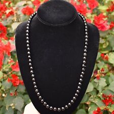 """CUSTOM MADE 24"""" Premium CHARGED Black Tourmaline Crystal 8mm Bead Necklace"""