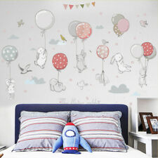 Rabbit Balloon Wall Stickers Baby Nursery Room Home Decor Art PVC Waterproof