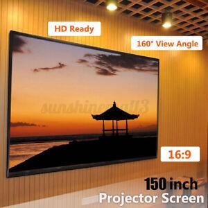 150'' Écran de projection HD 16:9 Pliable Home Cinéma Vidéo Projecteur 330*185cm