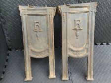 Antique Heywood Wakefield Cast Iron Theater Opera Bench Ends Row Seat Chair AsIs