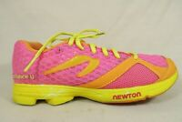 Newton Pink Yellow Orange Mesh Athletic Running Shoes Womens Size 6.5