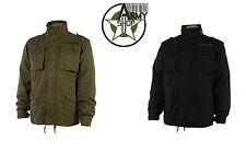 Vintage Army Jacke Parka M65 mit ausknöpfbarem Futter schwarz oliv  S M L XL XXL