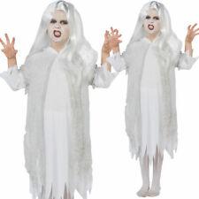 Espíritu Fantasmal Disfraz Halloween Niñas Novia Fantasma Disfraz + Peluca