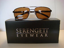 New Serengeti Sunglasses Made in Italy SYPHER 7998  Brown Polarized.With Box