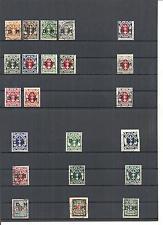 Danzig, Gdansk 1921-24, Dienstmarken aus Michelnummern: 1 - 51 o, gestempelt o