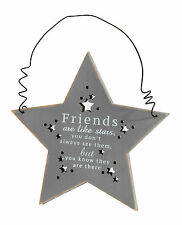 Friends Are Like Stars Hanging Plaque Gift Rustic Mirror Mirror Range