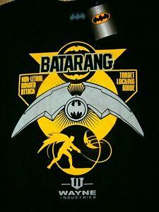 BATMAN BATARANG NEW WITH TAGS T-shirt SZ L WAYNE INDUSTRIES NEW RETRO VTG RARE