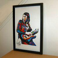 Robin Trower Bridge Of Sighs Guitar Hard Rock Music Print Poster Wall Art 11x17