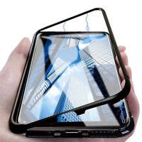 SDTEK Coque Magnétique Pour Samsung Galaxy J4+ Plus Coque Arrière En Verre