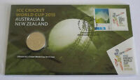 Australia & New Zealand 2015 ICC Cricket World Cup 20c Cents UNC Coin Carded