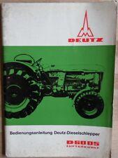 Deutz Schlepper D 6005  Bedienungsanleitung