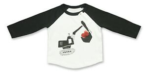 Gymboree Baby Boy Infant Clothes 6-12 Months White Black Long Sleeve Tee T-Shirt