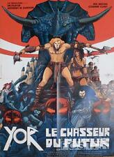 YOR THE HUNTER FROM THE FUTURE - SWORD / DRUILLET - ORIGINAL MEDIUM MOVIE POSTER