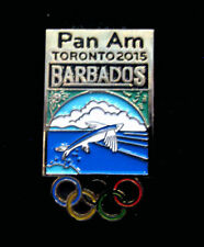 TORONTO 2015 Pan Am Olympic Games LIMITED Barbados delegation team pin