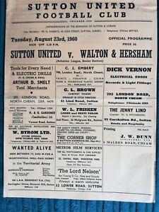 60/1 Sutton United vs Walton & Hersham (Athenian League)