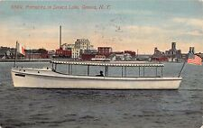 Geneva New York Cruise Boat Portadora On Seneca Lake~Calvin King Postcard 1912