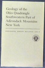 Usgs Adirondack Geology of Ohio Quadrangle, Ny, With Color Map! Near Utica