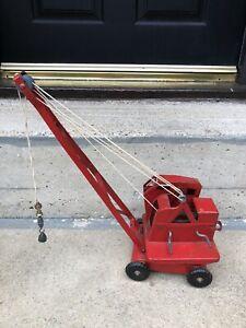 Vintage Triang Crane Toy Model