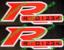 Honda Civic Type R FN2 FK2 FK8 VTEC Red x2 spoiler numéro de série autocollants