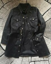 River Island Lux Heritage Read Genuine Leather Jacket Militaly UK 14 £165.00