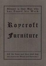 Roycraft Furniture 1981 Reprint of 1906 Catalogue Arts & Craft Design Photos
