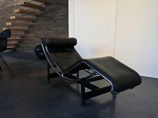 Cassina Le Corbusier LC4 Liege, Leder schwarz, Chrom, Top!