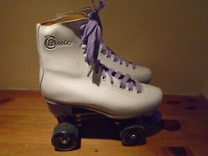 SIZE 6 VINTAGE WHITE  ROLLER SKATE BOOTS BY SKATES - NEO CLASSIC