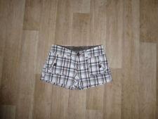 Karierte Normalgröße Damen-Cargo-Shorts