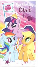 "OFFICIAL MY LITTLE PONY ""GIRL"" BIRTHDAY CARD**FREE 1ST CLASS P&P**"