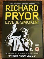 RICHARD PRYOR LIVE AND SMOKIN' ~ Smoking Concert Stand-Up Comedy Show UK DVD