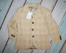 Marie Chantal BNWT Boys Checked Pattern Lined Suit Jacket Blazer Age 6 Years