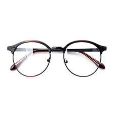 Nerd Brille filigran rund Glasses Klarglas Hornbrille treber 10R0 Brown findhoon