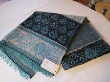 Vismaya collection wrap scarf throw rug blanket super soft India Atomic blue