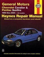 Haynes Repair Manual 38016 General Motors Chevrolet Cavalier and Pontiac Sunfire