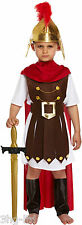 Boys Roman General Fancy Dress Costume Sparta Soldier Gladiator Emperor Childs Size Medium / Age 7 8 9